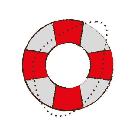 life buoy safety travel color sketch vector illustration eps 10 Illustration