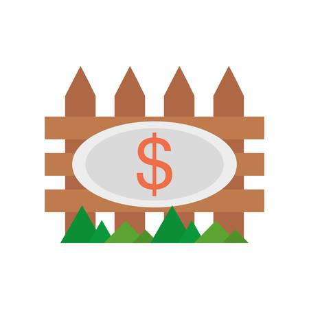 real estate fence price dollar vector illustration eps 10