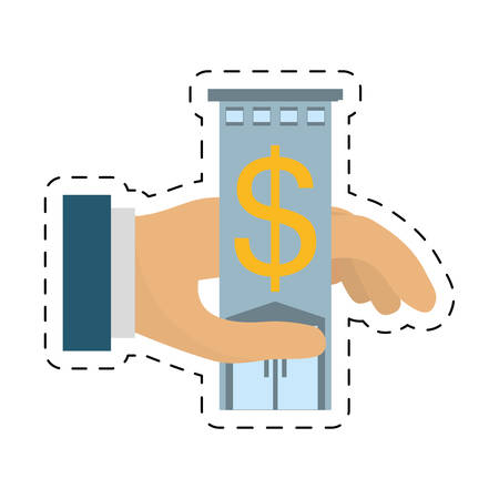 chequera: real estate business investment price cut line vector illustration eps 10