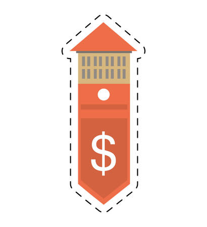 cut price: real estate building price expenses value cut line vector illustration eps 10