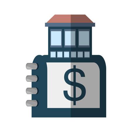 housing project: real estate directory catalog symbol shadow vector illustration eps 10 Illustration