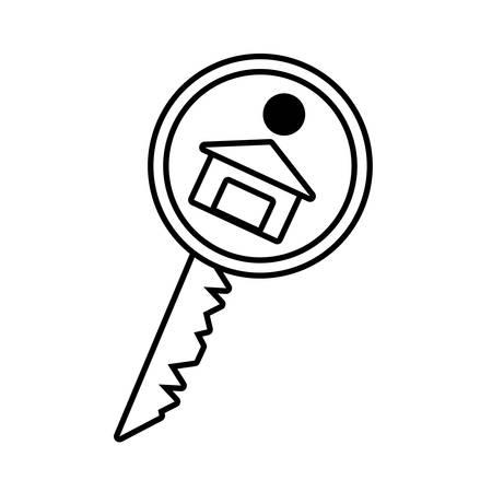 house key real estate buy outline vector illustration eps 10 Illustration