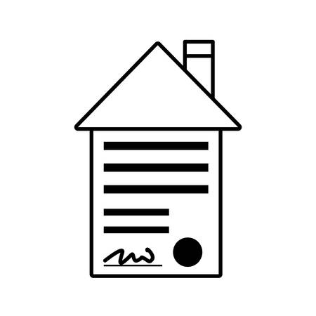 house key outline. Real Estate Contract Buy House Outline Vector Illustration Eps 10 Key