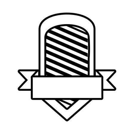 Shield Template Stripes Outline Empty Vector Illustration Eps 10