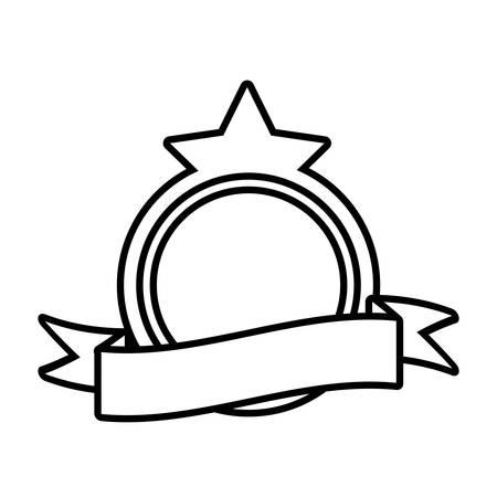 shield decorative star frame outline empty vector illustration eps 10