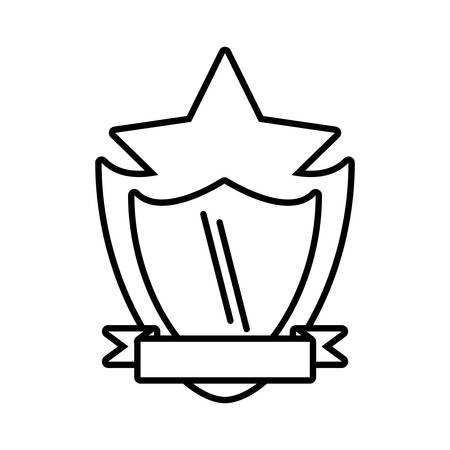 shield protected star frame outline empty vector illustration eps 10 Illustration