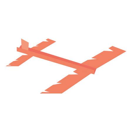 paper plane futurist model fly vector illustration eps 10 Illustration