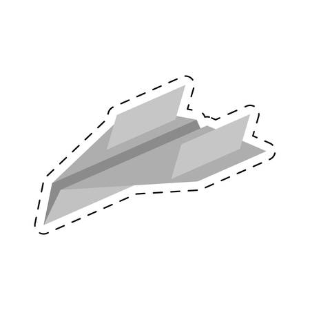 divergence: paper plane different launch fly cut line vector illustration eps 10 Illustration