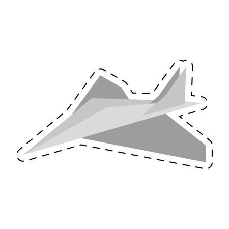 entertain: paper plane toy entertain cut line vector illustration eps 10 Illustration