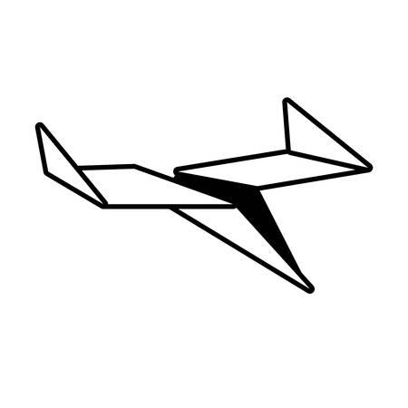 paper plane toy air outline vector illustration eps 10
