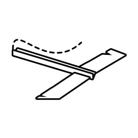 futurist: paper plane futurist model fly outline vector illustration eps 10 Illustration
