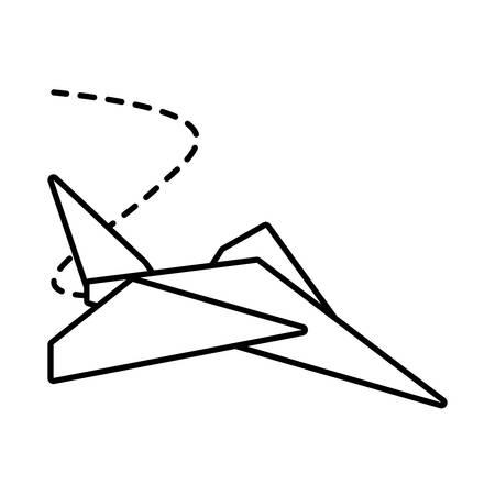 entertain: paper plane toy entertain outline vector illustration eps 10