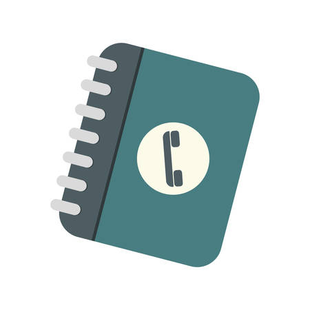 directory: notepad directory contacts telephone vector illustration eps 10