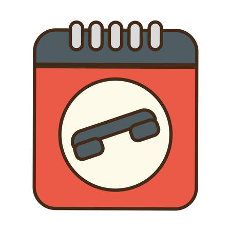 telephone: cartoon notepad directory contacts telephone vector illustration eps 10