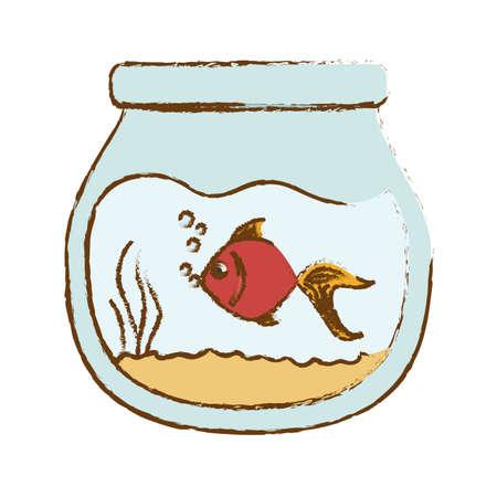 fish in bowl icon image vector illustration design Stock Photo