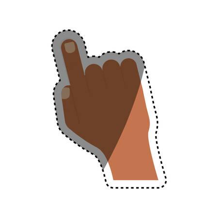 Human finger touching something icon vector illustration graphic design Illustration