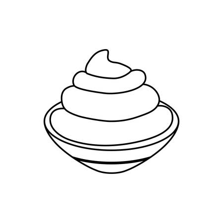 chantilly: isolated Chantilly cream icon vector illustration graphic design