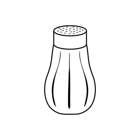 isoliert Salzstreuer Symbol Vektor-Illustration Grafik-Design