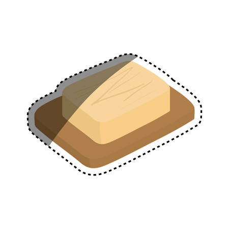cheese dairy food icon vector illustration graphic design Illustration