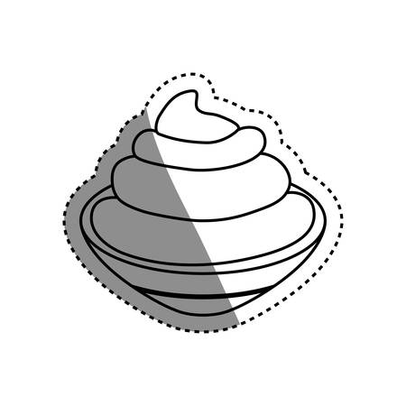 isolated Chantilly cream icon vector illustration graphic design