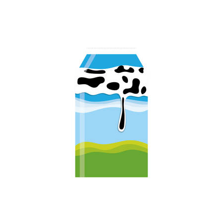 vacas lecheras: Fresh milk dairy icon vector illustration graphic design Vectores