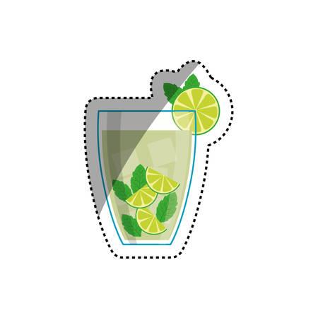 cold cuts: Delicious and fresh juice icon vector illustration graphic design