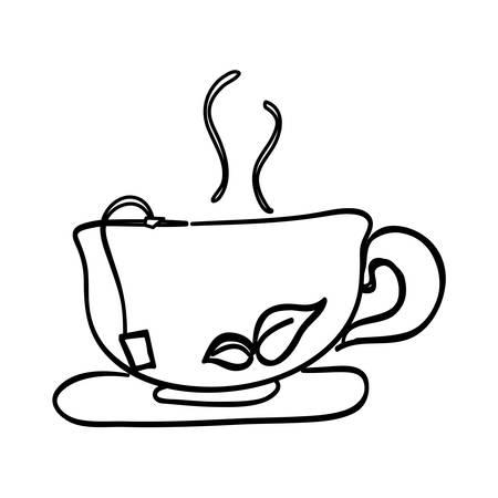 Delicious tea cup icon vector illustration graphic design Illustration