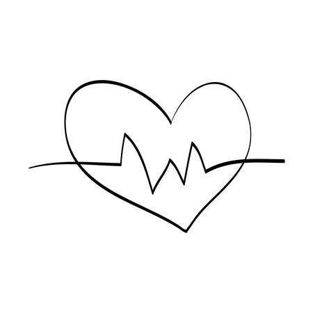 cardiograph: Heart medical healthcare icon vector illustration graphic design
