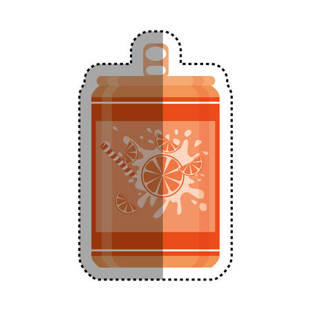 tin packaging: Delicious and fresh soda icon vector illustration graphic design Illustration