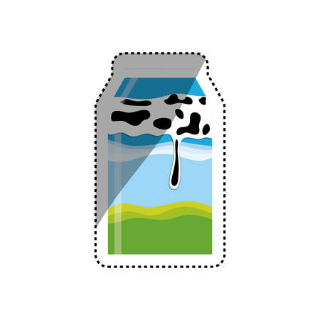 Fresh milk dairy icon vector illustration graphic design Illustration