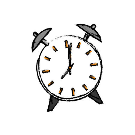 Vintage clock with alarm icon vector illustration graphic design