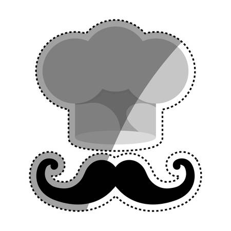 work clothes: Chef hat symbol icon vector illustration graphic design