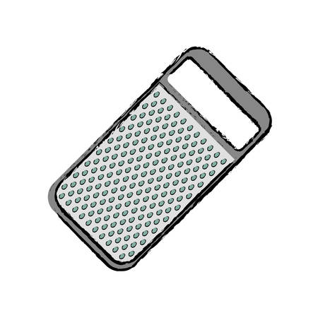 grater: kitchen grater isolated icon vector illustration graphic design