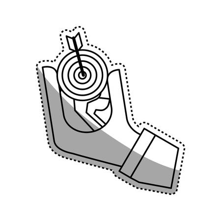 dartboard: Target dartboard goal icon vector illustration graphic design Illustration