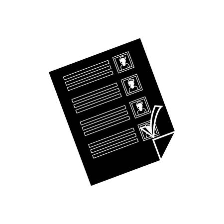 papaer: Democracy voting vote icon vector illustration graphic design Illustration