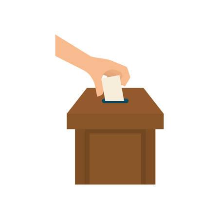 Democracy voting vote icon vector illustration graphic design Illustration