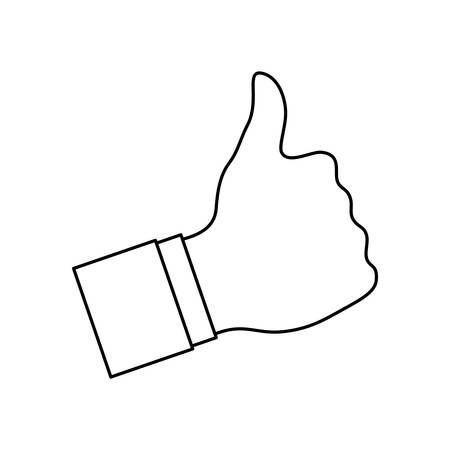 hand like thumb up icon vector illustration graphic design Illustration