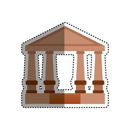 supreme court: Court building symbol icon vector illustration graphic design