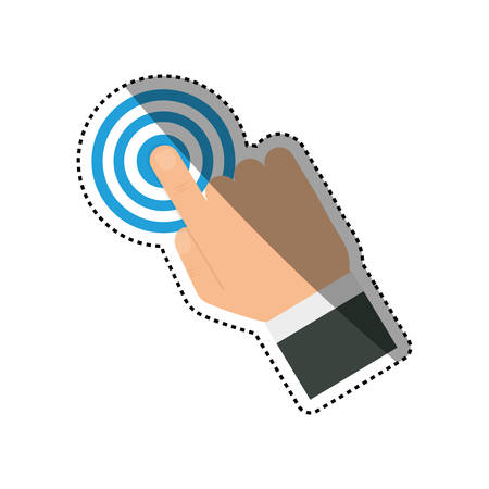 Finger touching something icon vector illustration graphic design