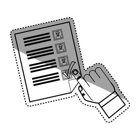 democracy: Democracy voting vote icon vector illustration graphic design Illustration