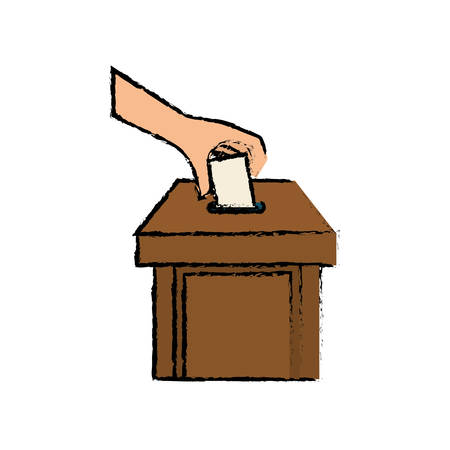 Democracy voting vote icon vector illustration graphic design