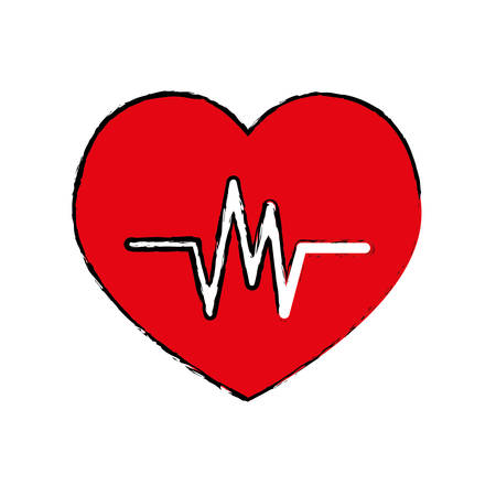 cardiograph: Heartbeat medical healthcare icon vector illustration graphic design Illustration
