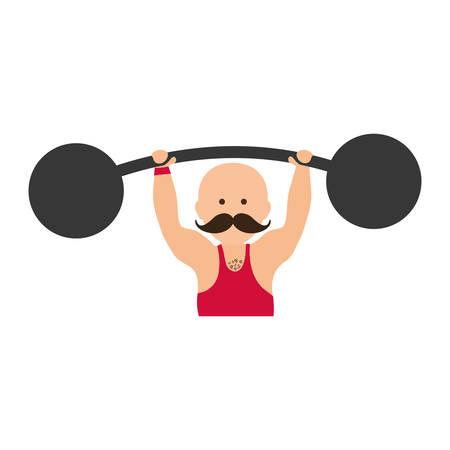 strongman: strongman circus cartoon icon vector illustration graphic design