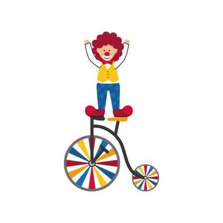 Circo icono de dibujos animados payaso ilustración vectorial diseño gráfico