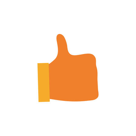 good friends: hand like thumb up icon vector illustration graphic design Illustration