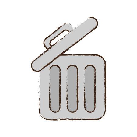 drawing trash can web garbage information vector illustration eps 10