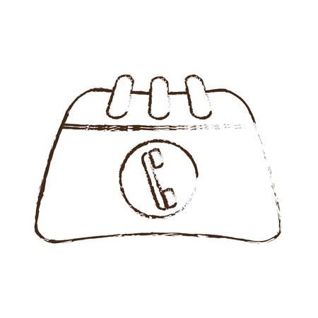 directorio telefonico: sorteo directorio de contactos de teléfono ilustración dibujo vectorial eps 10