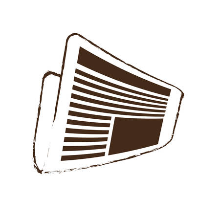 actuality: sketch draw newspaper letter news daily vector illustration eps 10