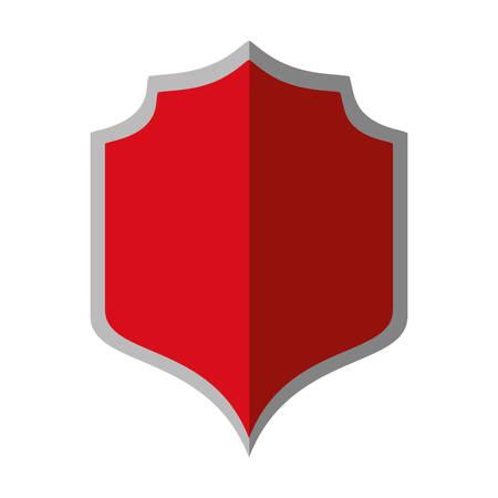 shielding: red shield protection gray border shadow vector illustration eps 10