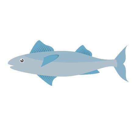 mackerel fish sea life design icon vector illustration eps 10 Векторная Иллюстрация